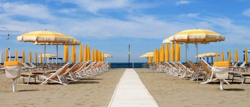 Lido di Camaiore beach
