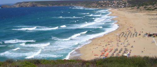 Piscinas beach