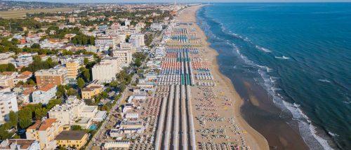 Riccione beach