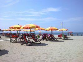 Spiaggia di Viareggio, Versilia, Toscana