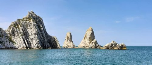 Boat excursion on the Riviera del Conero