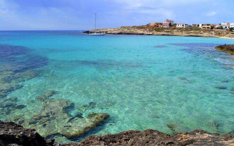 Spiaggia dell'Isola di Lampedusa