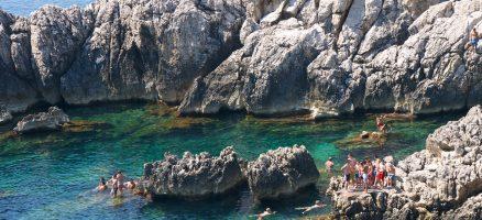 Spiaggia del faro di Punta Carena - Isola di Capri