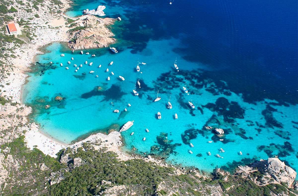 Gita in barca, itinerari, La Maddalena, Sardegna