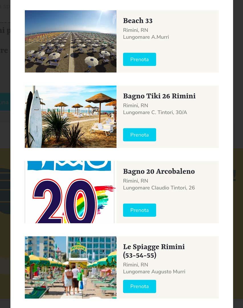 Prenotazione ombrellone - Bookings ombrellone spiagge