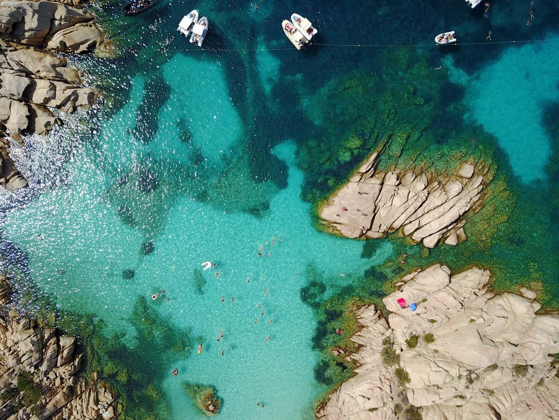 Spiaggia di Cala Coticcio, gita in barca La Maddalena