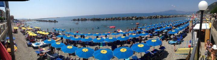 Prenota online un ombrellone sulla spiaggia di Chiavari