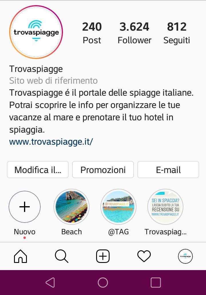 Le più belle spiagge italiane su instagram