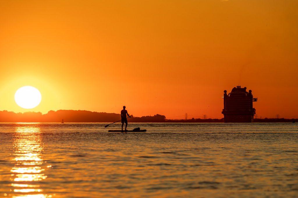 SUP Surf al tramonto